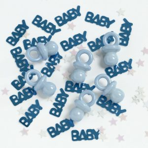 Baby Rattle Confetti - Blue