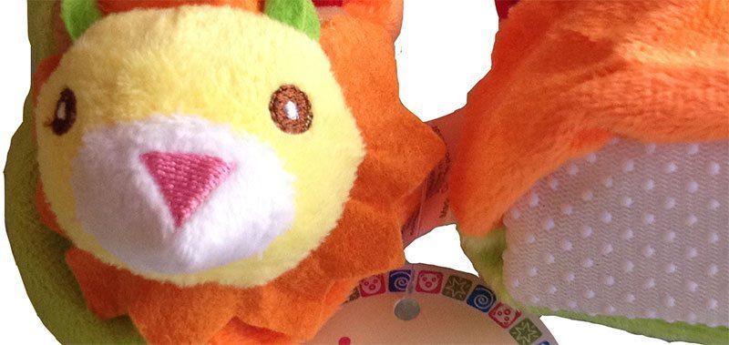 Plush Animinal Baby Booties - Leo Lion