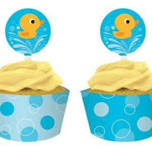 Just Ducky Cupcake Wraps with Toppers