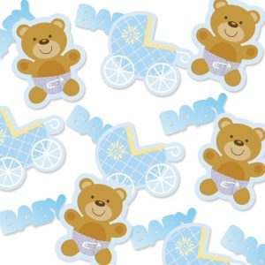 Teddy Bear Blue Confetti