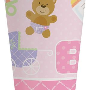 Teddy Bear Pink Cups