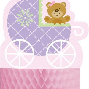 Teddy Bear Pink Plastic Table Cloth