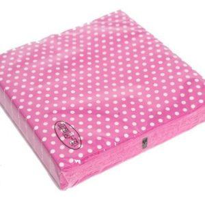 Polka Dot Pink Napkins