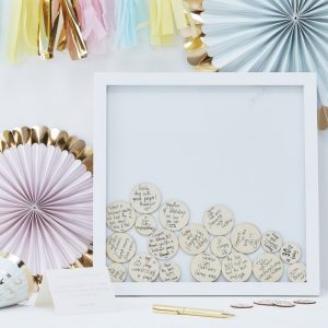 Baby Shower wooden guest book
