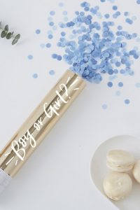 Gender Reveal Confetti Cannon Blue