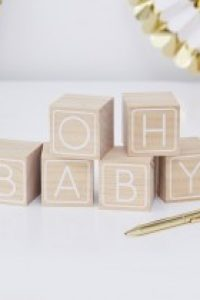 'Oh Baby' Building Block Guest Book / Activity