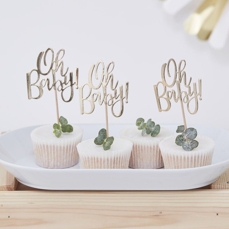 'Oh Baby' Cupcake Toppers