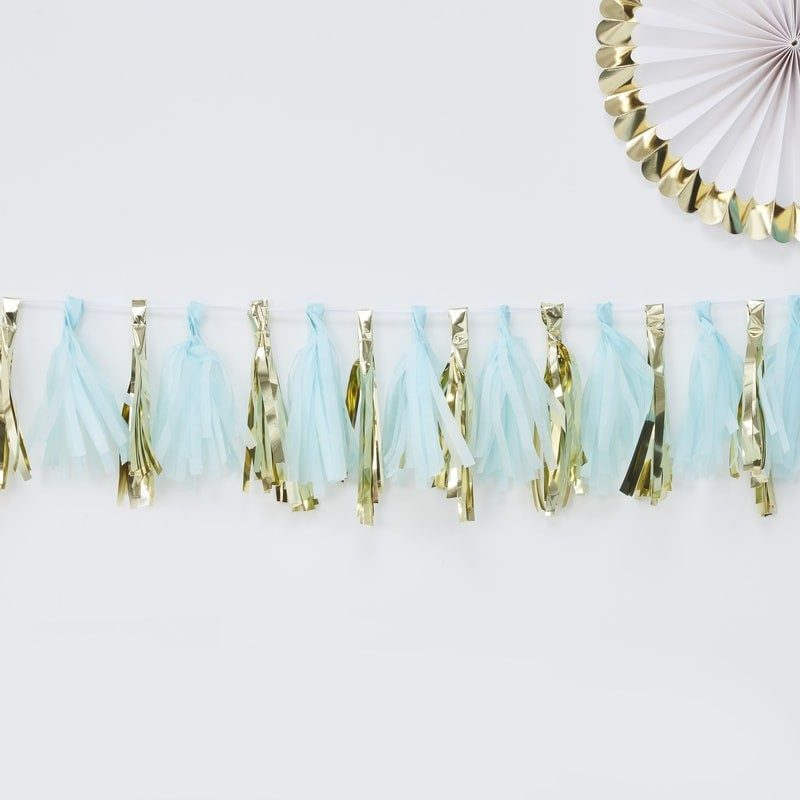 'Oh Baby' Blue and Gold Garland