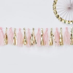 Oh Baby Gold and Pink Garland