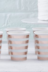 Hello World – Paper Cups – Mint and Rose Gold