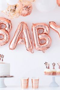 Baby Balloon Bunting – Rose Gold
