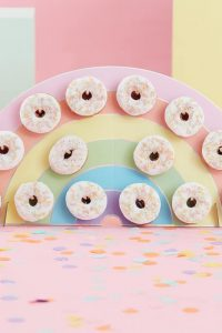 Rainbow Donut Wall Holder
