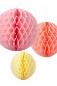 Honeycomb Decorations – Sorbet