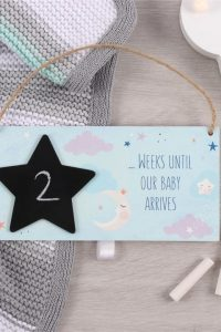Baby Arrival Countdown Plaque