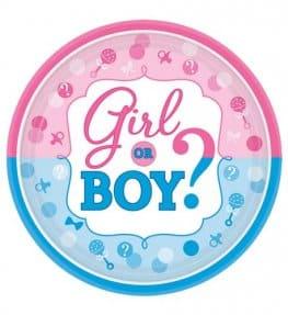 Girl Or Boy Paper Plates 8pk