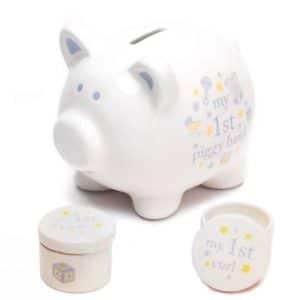 My first piggy bank set - boy